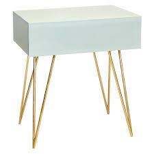 Gold Bedside Table Bedside Table Gold Legs Extraordinary Worlds Away Debra Iceg Ice