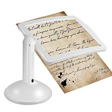 loupe de bureau mains libres loupe kkmoon loupe lecture 3 x 2 led mains libres pleine page loupe
