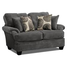 Grey Sofa And Loveseat Sets Cordelle Sofa Loveseat And Cocktail Ottoman Set Gray Value