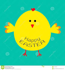 easter chicken card stock vector image 37484942