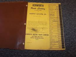 kenworth w900 model truck manuals u0026 books heavy equipment parts u0026 accs business u0026 industrial