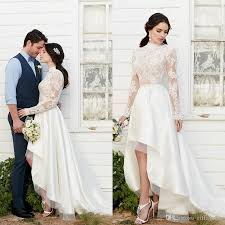 online get cheap country wedding dresses sleeves high low