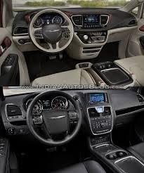 chrysler car interior 2017 chrysler pacifica vs 2016 chrysler town u0026 country interior