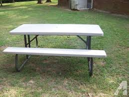 lifetime fold away picnic table lifetime folding picnic table for sale in savannah tennessee