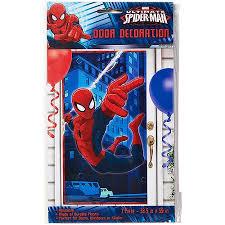 Elmo Party Decorations Walmart Spider Man Door Cover Party Supplies Walmart Com