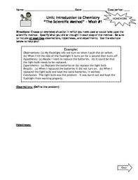 homework introduction to chemistry worksheets set of 7 with