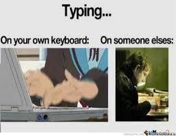 Typing Meme - typing keyboard by mikuo123 meme center