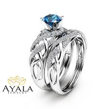 engagement rings london images London blue topaz bridal set in 14k white gold unique engagement jpg