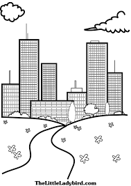 gallery coloring pictures of buildings coloring page for kids
