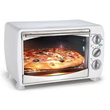 elite cuisine toaster white 1200 watt countertop toaster oven broiler white metal