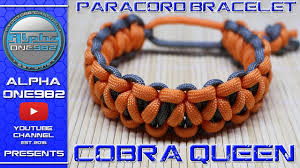 make paracord bracelet youtube images How to make paracord bracelet queen cobra underwood cobra braid jpg