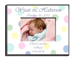 personalized polka dot baby picture frame personalize at