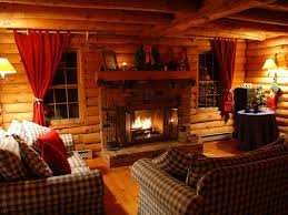 Interior Log Home Pictures Inviting Living Room With Wood Burning Fireplace West Wardsboro