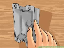 How To Install Under Cabinet Lighting by How To Install Under Cabinet Lighting With Pictures Wikihow