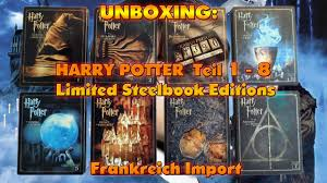 chambres d h es dr e unboxing harry potter teil 1 bis 8 limited steelbook editions