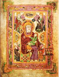 virgin and child from the book of kells