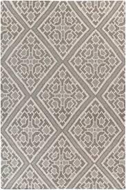 Diamond Area Rug by Amd 1008 Grey Diamond Print Flatweave Wool Rug