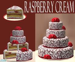 eris3000 s raspberry wedding cake