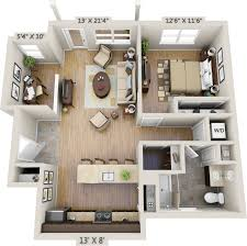 image result for 1 bedroom 3d floor plan modern home design one