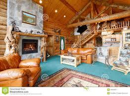 inside a log cabin stock photo image 49548451