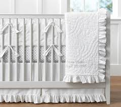 ruffle baby bedding pottery barn