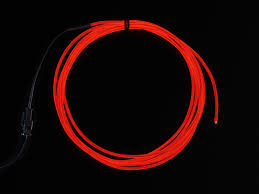 high brightness red electroluminescent el wire 2 5 meters