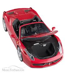 toy ferrari model cars ferrari 458 spider convertible red mattel wheels bcj89 1
