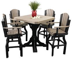 Luxcraft Fine Outdoor Furniture by Luxcraft Adirondack Swivel Chair Dining Height Amish Yard