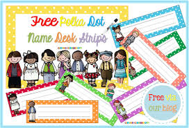 Student Desk Name Tags by First Day Of Clever Classroom Blog