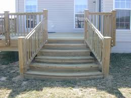 deck stairs with landing design the home design beautiful stair