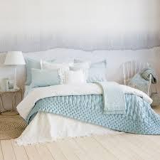 edredón efecto capitoné color verde mar edredones cama