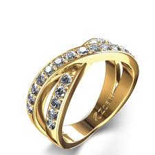 cross gold rings images Criss cross 1 2 ctw diamond ring in 14k yellow gold jpg