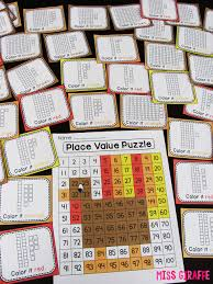 place value puzzle that reveals a turkey for thanksgiving