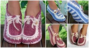 pattern crochet converse slippers diy crochet boat slippers with free pattern
