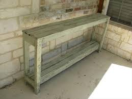 Rustic Sofa Table by Diy Rustic Pallet Sofa Table Pallet Furniture Plans