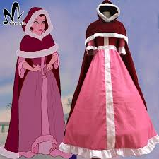 Halloween Costumes Belle Beauty Beast Cheap Beauty Beast Belle Pink Aliexpress