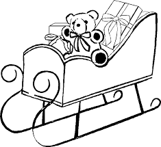 coloring pages of santa claus sleigh christmas coloring pages of