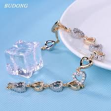 chain love bracelet images Budong fashion heart shaped crystal hand chain love bracelet for jpg
