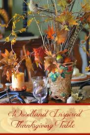 a woodland inspired thanksgiving table worthing court