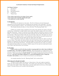 formal lab report template 5 chemistry lab report sle model resumed