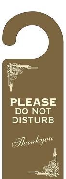 hotel door hanger template deco do not disturb door hanger