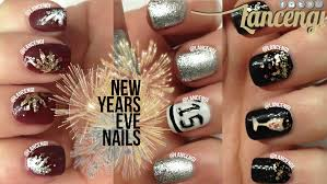 diy cute u0026 easy new years eve nail art use glitter on your nails