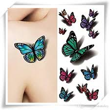 3d multicolor butterfly decals decal flying