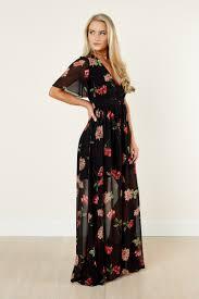 boutique femme gorgeous maxi dress plunge neck maxi flutter sleeve dress 49 00