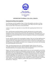 city water light and power see our opposition to hb1451 that passed city water light and