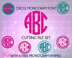circle monogram font letters with set of six free by svgsalon