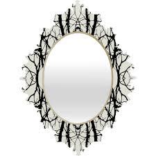 holli zollinger tree silhouette black baroque mirror deny designs