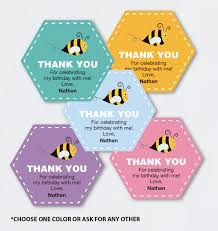 bee birthday favor tags printable pdf baby shower thank you