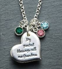 s day necklace with birthstone charms large two layer pewter birthstone necklace jewelry for