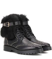 s burberry boots sale burberry ankle boots whenaston aus lackleder mit shearling besatz